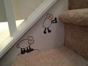 Sheep On The Stairs